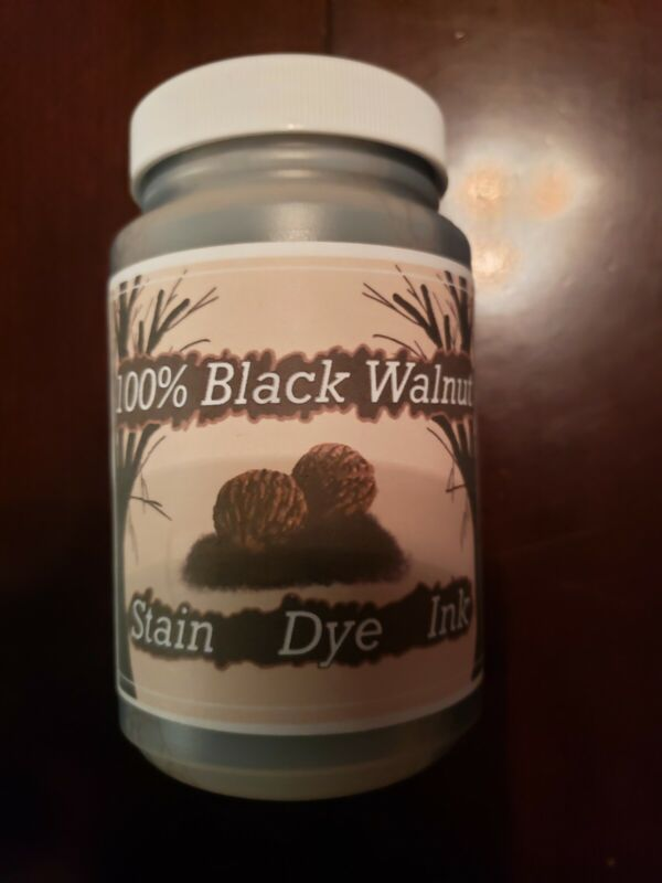 black walnut stain/dye/ink 8 oz concentrate 100% organic