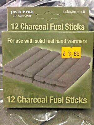 12 Solid Fuel Charcoal Handwarmer Refill Sticks Highlander Jack Pyke Hand Warmer - Hand Warmer Fuel Sticks