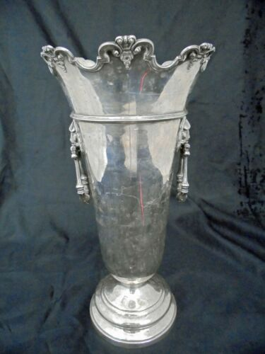 Solid Silver Trumpet Shaped Flower Vase Hawksworth and Eyre Ltd