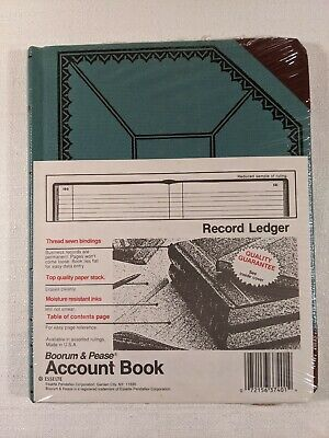 Boorum Pease Record Ledger Account Book 9-58 X 7-58 150 Pages