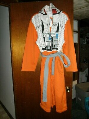 Star Wars Bathrobe (Disney Star Wars Rebel X-Wing Pilot Jersey Fleece Adult Robe, Men's Size S,)