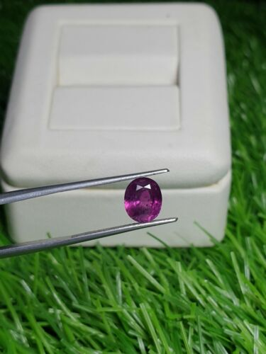 Natural purple pink corrundom from Afghanistan 2ct