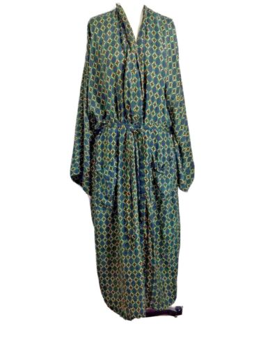 Christian Dior Monsieur  robe Vintage Vtg 100% silk  one size