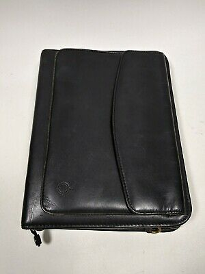 Franklin Covey Black Full Grain Aniline Leather Classic 7-ring Planner