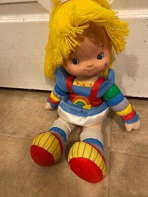 """VINTAGE Rainbow Brite Doll  1983 18"""" 80's Toy Hallmark"""