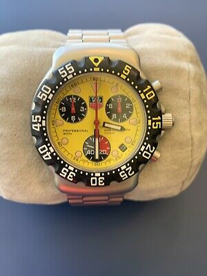 Tag Heuer formula 1 vintage Yellow Dial