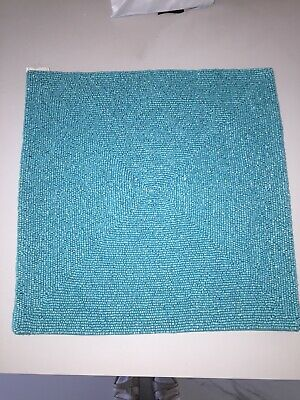 Neimans Marcus Kim Seybert Nyc Glass Bead Placements Square Turquoise