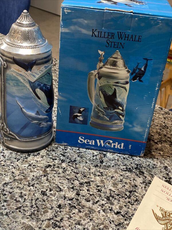 Budweiser Sea World Killer Whale Stein CS186