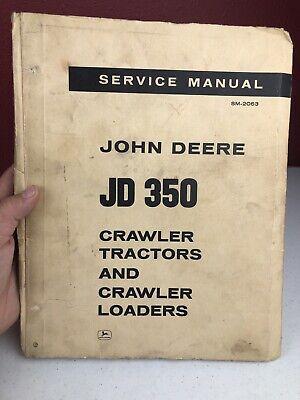 Vintage John Deere Jd 350 Service Manual