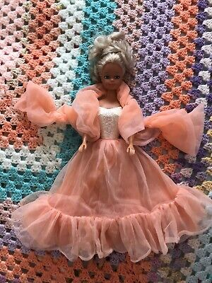 Peaches And Cream Barbie Outfit On A Vintage Steffi Doll Excellent Condition