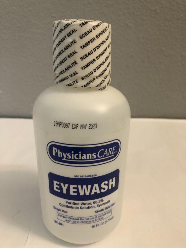 Physicians Care Eyewash Solution (24-101), Lot Of 12, 16 oz Each, Exp 5/2023