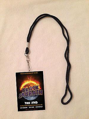 *BLACK SABBATH THE END TOUR 2016 VIP ALL ACCESS BACKSTAGE MEET PASS W/ LANYARD*