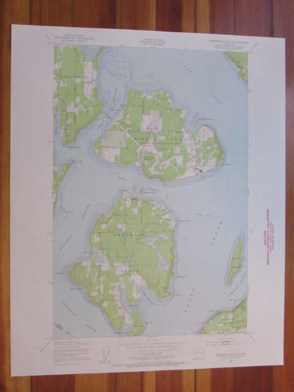 McNeil Island Washington 1955 Original Vintage USGS Topo Map