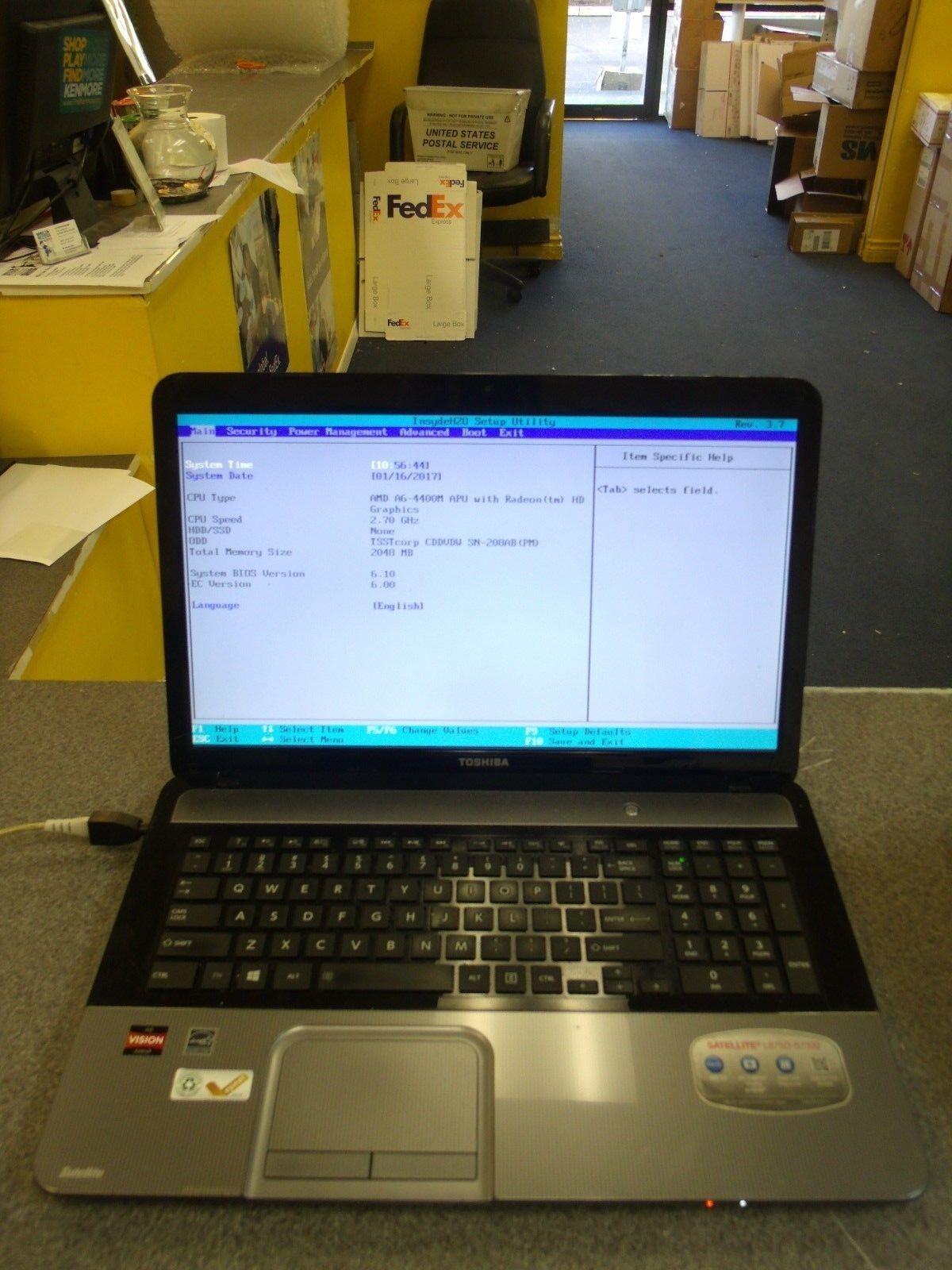 "17.2"" Toshiba Satellite L875D Laptop AMD A6-4400M 2.70GHZ 2GB WiFi DVD-RW #R65"