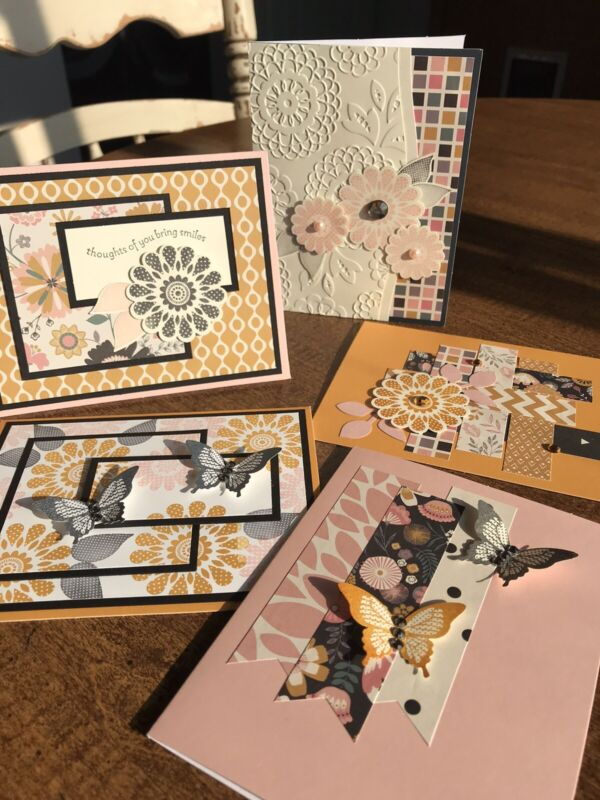 """Handmade 5 Greeting Card Series """"Prelude To Fall"""": Stampin Up ~The Paper Hen"""