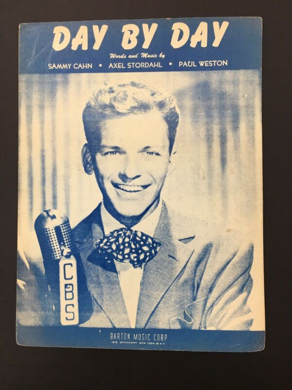 Vintage Sheet Music Day By Day, 1945 Cahn/Stordal/Weston, Frank Sinatra