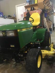 John Deere 455 Diesel Lawnmower Snowblower
