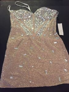 Sherri Hill mini evening prom Dress Style 1429 NWT Size 16 (fits sizes 12-14)