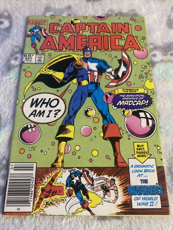 🔥CAPTAIN AMERICA #307 NM NEWSSTAND (1985) 1ST APPEARANCE OF MADCAP