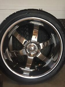 """24"""" boss rims and tires"""