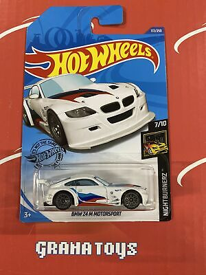 BMW Z4 M Motorsport #172 White Nightburnerz 7/10 2020 Hot Wheels Case J