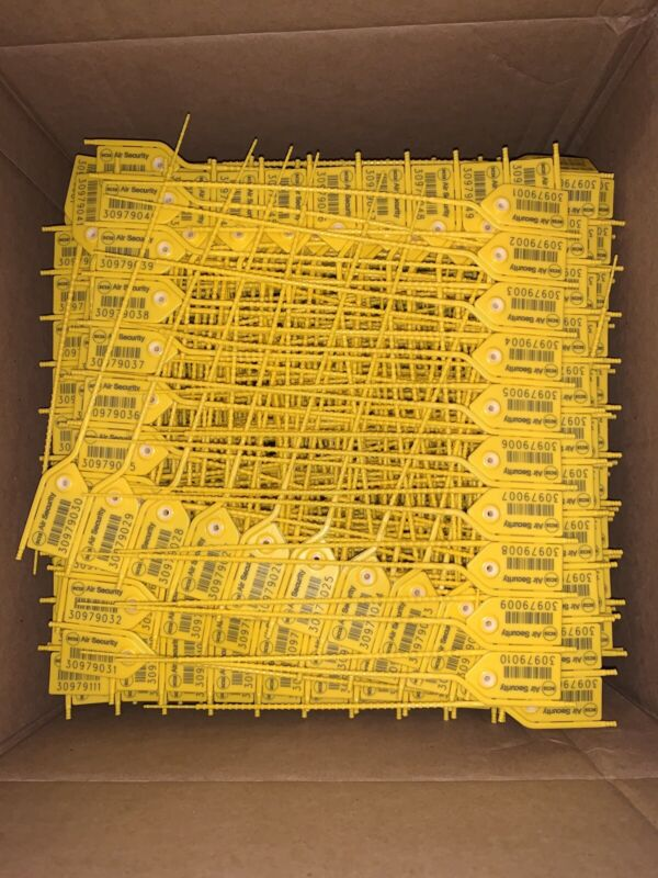 """PACK OF 1000 - AIR SECURITY MPT-SDTO-08"""" LOAD TAGS - YELLOW"""