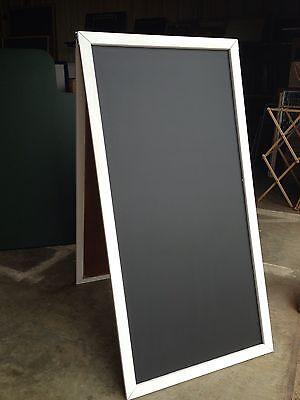 Sidewalk Announcement Black Chalkboard Wedding 24 X 48 White Hardwood Frame