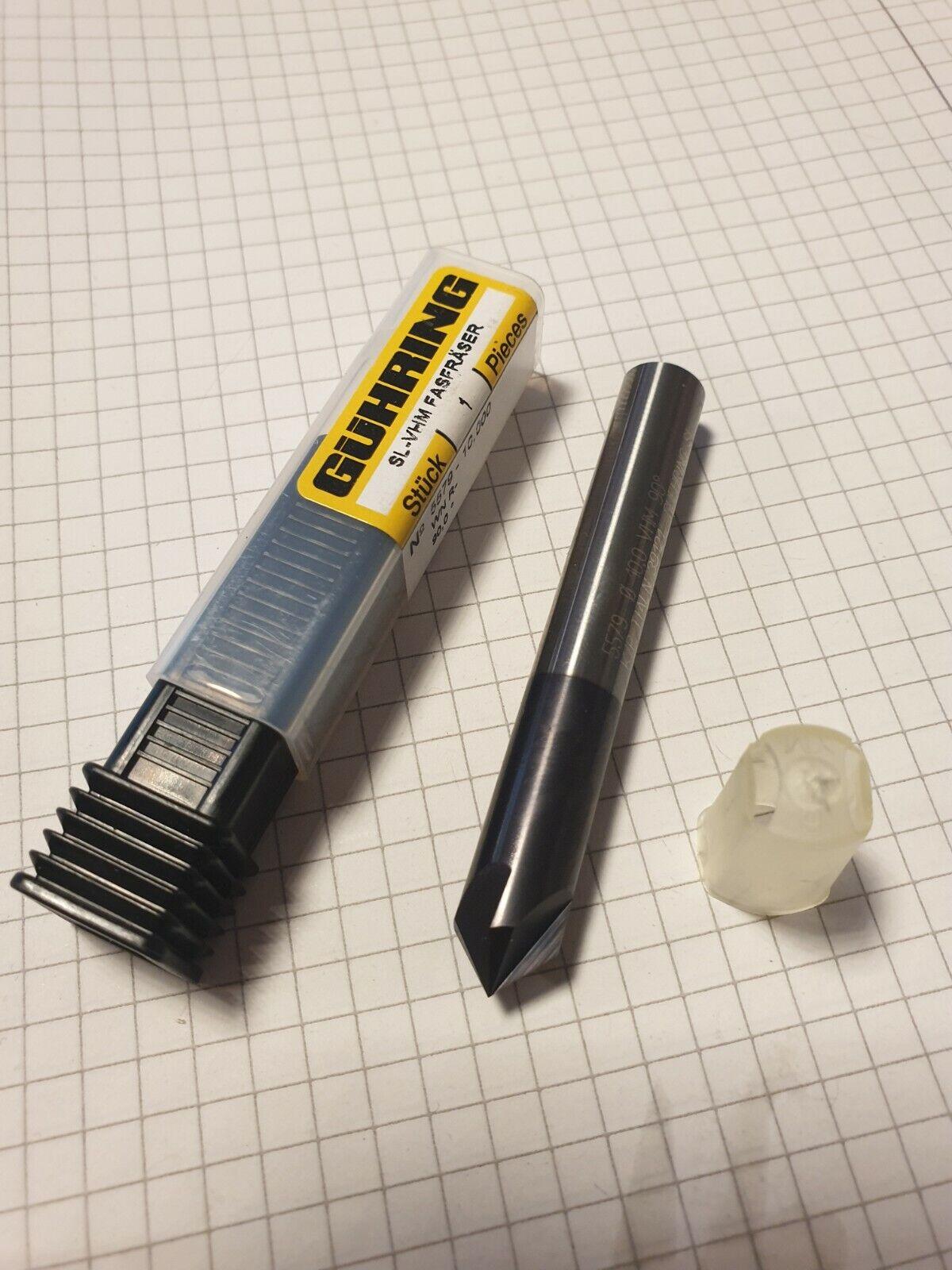 VHM Fasenfräser Gühring D10x90 Grad