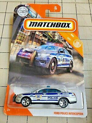 Matchbox Ford Police Interceptor Silver MBX City