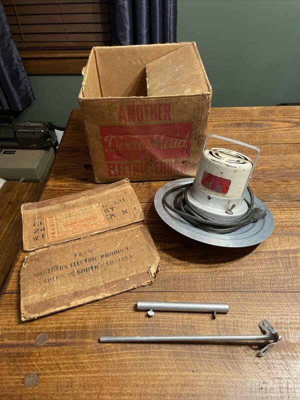 VINTAGE DIXIE MAID ELECTRIC BUTTER CHURN MOTOR MODEL D Original Box