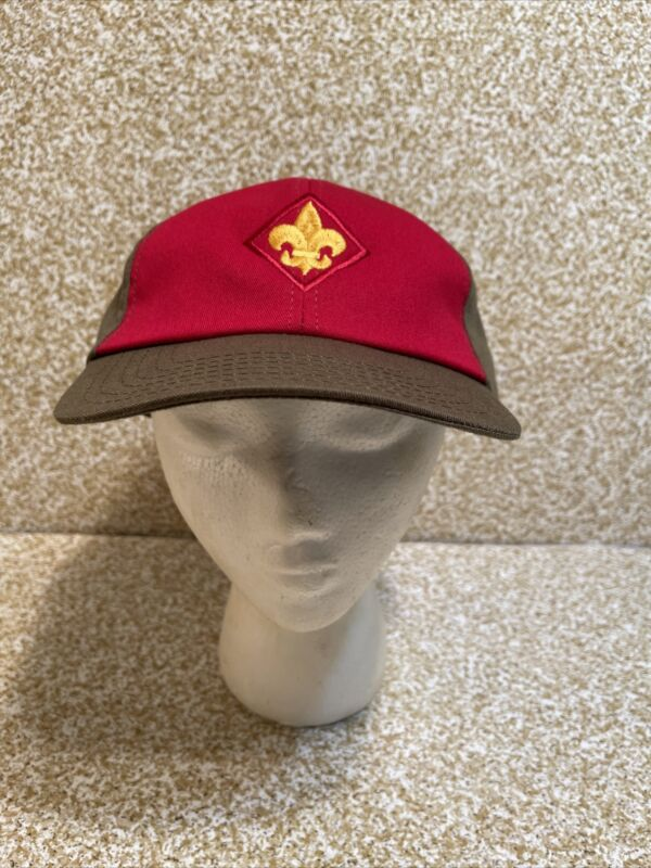 Boy Scout uniform baseball hat red front Snapback Trucker Cap M/LG