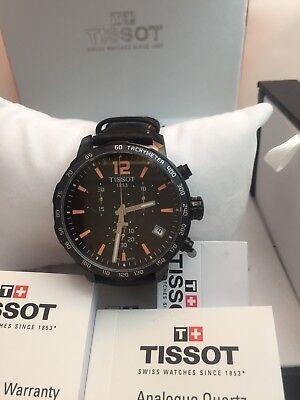 Tissot Men's T0954173605700 Quickster Chronograph Analog-Display Quartz Black