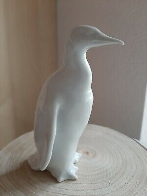 Herend Feher White Porcelain Penguin Figurine
