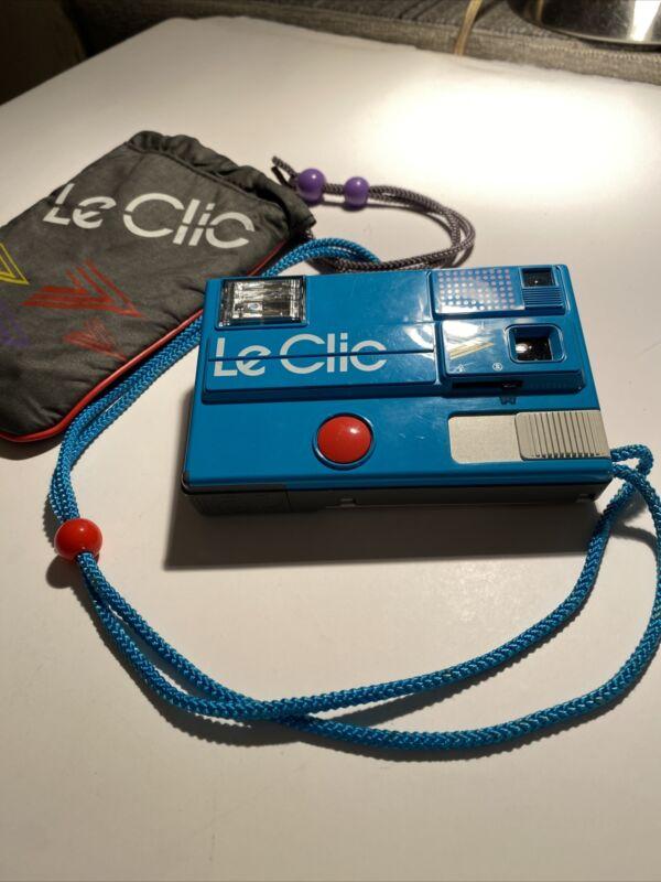 Vintage LeClic Camera MOD BLUE Original bag Untested