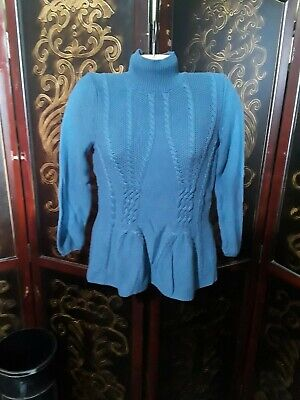 Cupio Sweater Top Womans Blue Medium Shirt