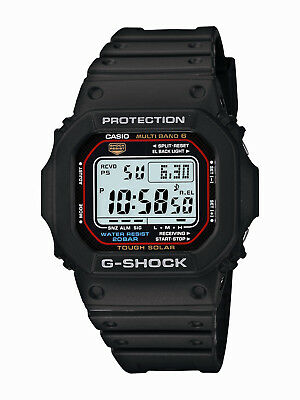 Casio G-Shock Men's Tough Solar Multi Band 6 Black Resin 47mm Watch GWM5610-1