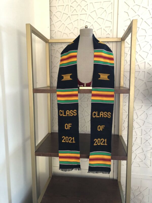 Graduation Stole Kente Class Of 2021 Handwoven Kente Sash