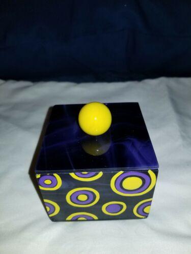 Purple Glass Trinket Box by Glass Box Guy