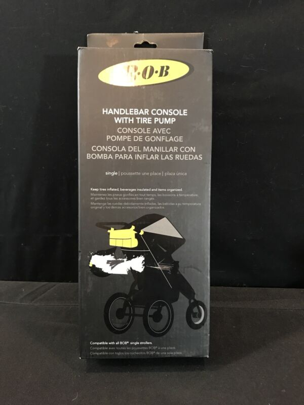 BOB Handlebar Console with Tire Pump for Single Jogging Strollers - Black