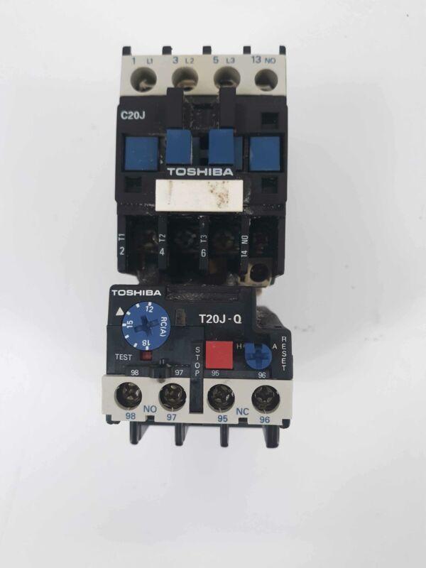 Toshiba C20J Contactor 110v Coil w/ T20 J-Q Overload Relay 12-18A