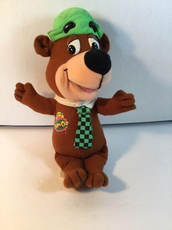 "Vintage 1993 Cartoon Club Hanna Barbera Yogi Bear 11"" Total Plush Mattel"