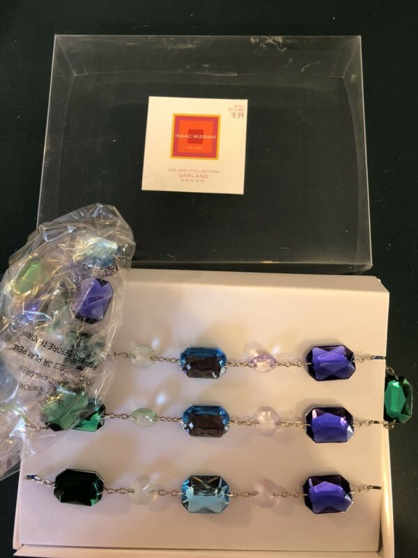 Jeweled Metal Chain Garland by Isaac Mizrahi for Target in Purple/Blue/Emerald!