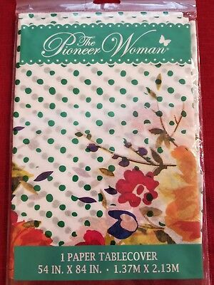 NEW! PIONEER WOMAN PAPER TABLECLOTH 54 X 84 ~ PRINTED ALL OVER! PICK YOUR PATTE](Thanksgiving Paper Tablecloths)
