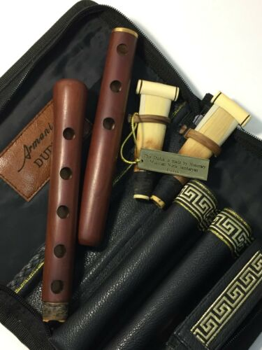 Armenian apricot DUDUK professional complete with 2 reeds + leather case