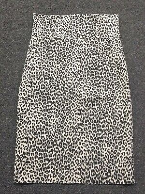 Body Central Leopard Print Stretch Pencil Skirt Size Small - Leopard Stretch Skirt