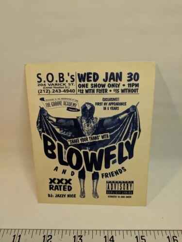 BLOWFLY club Flyer NYC S.O.B