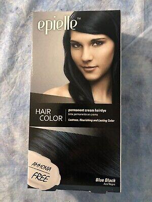 Blue Black Hair Dye - NEW EPIELLE HAIR COLOR FOR WOMEN PERMANENT CREAM HAIR DYE (BLUE BLACK)