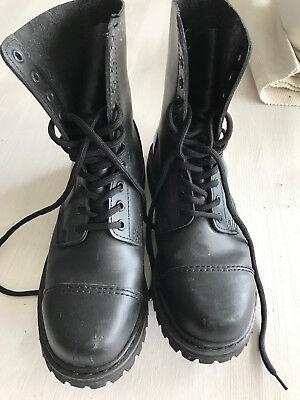 BK British Knights Herren 10-Loch Stiefel schwarz Gr. 8 (42) wenig getragen