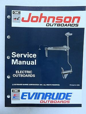 1992 OMC Johnson Evinrude Outboard Service Repair Manual Electric Troller 508140