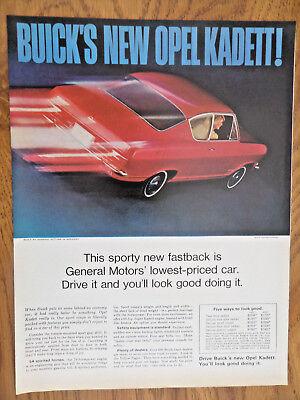1966 Buick Opel Kadett Sports Ad Sporty New Fastback